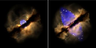 Observed formation of a stellar jet in real time